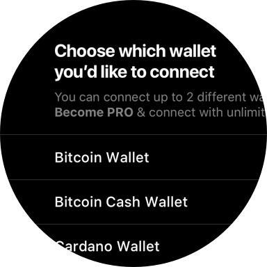 Connect with wallets and exchanges
